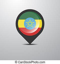 Ethiopia Map Pin
