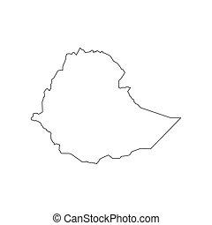 Ethiopia map silhouette