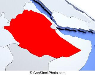 Ethiopia territory on actual world map ethiopia flag on old vintage ethiopia on world map gumiabroncs Images