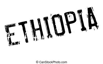 Ethiopia stamp rubber grunge