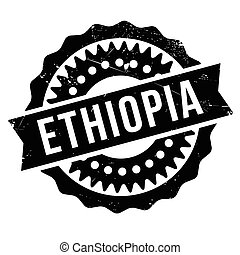 Ethiopia stamp. Grunge design with dust scratches. Effects can be easily removed for a clean, crisp look. Color is easily changed. rubber grunge