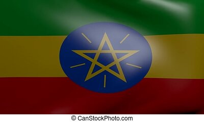ethiopia strong wind flag