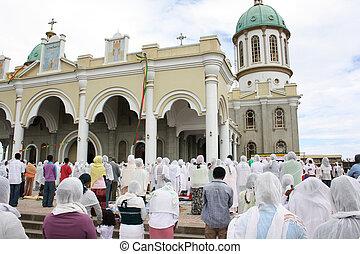 ethiopian, bom, massa, sexta-feira, ortodoxo