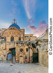 Ethiopian church above the church of the holy sepulchre -Jerusalem, Israel