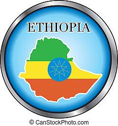 ethiopie, bouton, rond