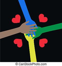 ethncity, liberté, paix, amour