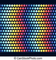 Ethnic african beads abstract color seamless pattern.