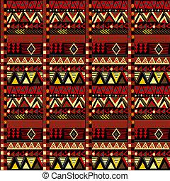 Ethnic african motifs geometrical pattern