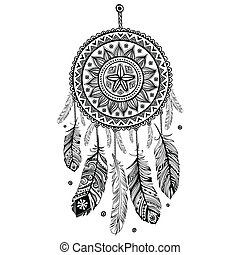 Ethnic American Indian Dream catcher can be used as a...
