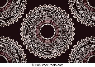 Ethnic Aztec circle ornament seamless pattern