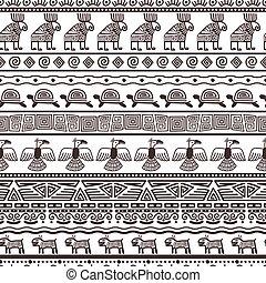 Ethnic aztecs or peruvian pattern template