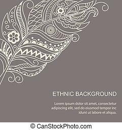 ethnic background in boho style
