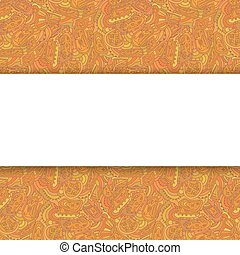 Ethnic background with space for text. Vector illustration.