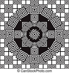 Ethnic black and white seamless pattern