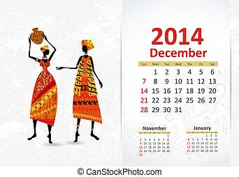 Ethnic Calendar 2014 december