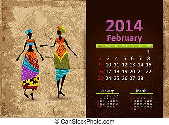 Ethnic Calendar 2014 February