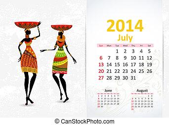Ethnic Calendar 2014 july