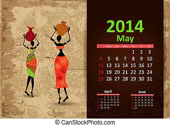 Ethnic Calendar 2014 may