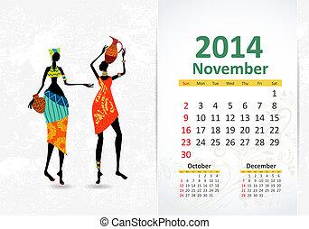 Ethnic Calendar 2014 november