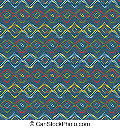 Ethnic colored pattern