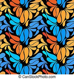 Ethnic colorful floral hand drawn doodle slyle seamless pattern