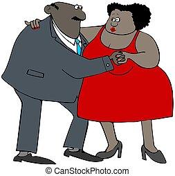 Ethnic couple dancing