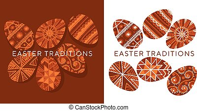 Ethnic Easter egg ornament in natural colors - Ethnic ...