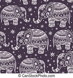 Ethnic elephant seamless