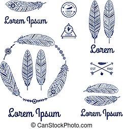 Ethnic feathers logo