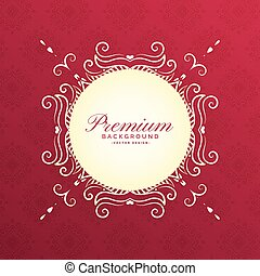 ethnic floral frame with text space