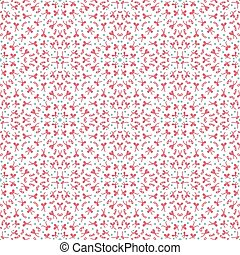 ethnic floral hand-drawn seamless pattern