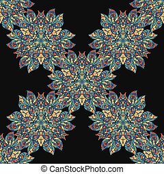 Ethnic floral seamless pattern. Abstract ornamental background vintage texture vector. Fabric illustration.