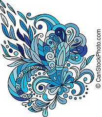 Ethnic floral zentangle, doodle background pattern circle in vector. Henna paisley mehndi doodles design tribal design element.