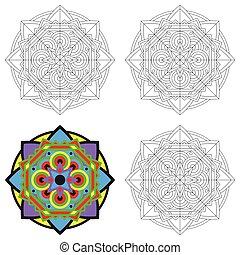 Ethnic geometric design