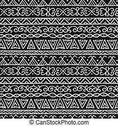 Ethnic handmade ornament, Folk Nordic Background. Seamless Pattern for your design