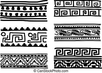 Ethnic handmade ornament for your design