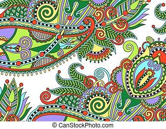 ethnic horizontal authentic decorative paisley pattern for ...