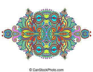 ethnic horizontal authentic decorative paisley pattern for...