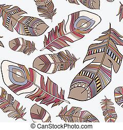 Ethnic Indian feathers plumage