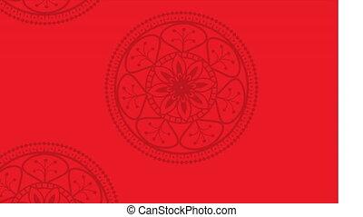 ethnic mandalas boho style pattern ,hd video animation