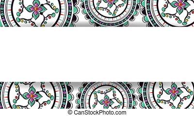 ethnic mandalas frame boho style pattern ,hd video animation
