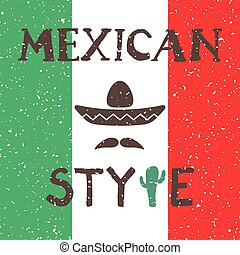 Ethnic mexican background design in native style