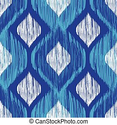 Ethnic modern tribal ikat blue, white and navy fashion ...