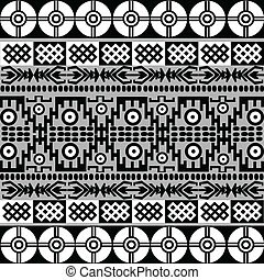 Ethnic motifs in black and white