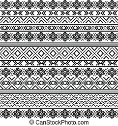 Ethnic motifs - pattern in black and white