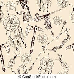 Ethnic native american seamless pattern - Ethnic native ...