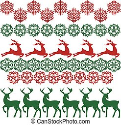 Ethnic nordic christmas seamless pattern background with deer