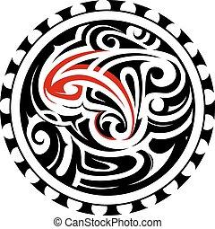 Ethnic North American tattoo ornament
