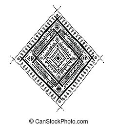 Ethnic ornament - Ethnic beautiful isolated ornament