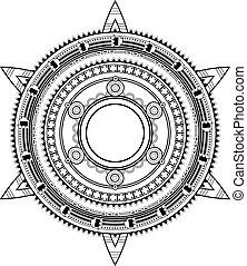 Ethnic ornament. Mexico origin